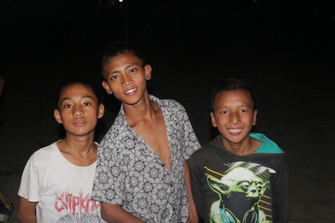 Sujan, Nirmal und Sagar